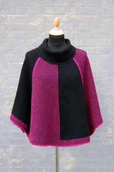 Cardigan Pattern, Sweater Cardigan, Wrap Pattern, Knitted Poncho, Knit Fashion, Knitwear, Knitting Patterns, Knit Crochet, Pullover