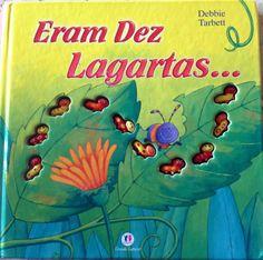 Livro lindo (do tipo livro/brinquedo), cartonado, onde as lagartas são de plástico e super resistente. Sucesso com crianças a partir de dois anos. Além do lúdico da contagem, trás uma linda história sequenciada e divertida.