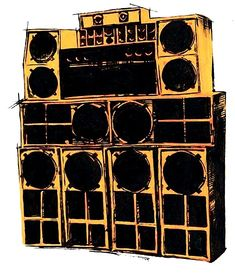 drawing of a stack of speakers. #musicart http://www.pinterest.com/TheHitman14/music-drawn-%2B/