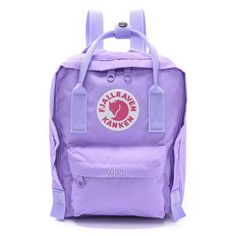 Fjallraven Kanken Mini Backpack - Violet (€51) found on Polyvore featuring bags, backpacks, knapsack bags, zipper bag, rucksack bag, mini zipper bags and purple bag