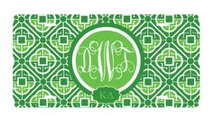 Kappa Delta sorority License Plate monogrammed and personalized with greek letters. newbeginningdesigns.com