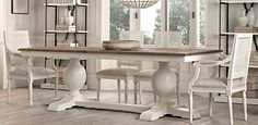 This is what I am going to get when I move into a house. Decided. Baroque Parquet Dining Table | Restoration Hardware