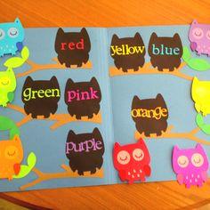 Owl-themed file folder game for kindergarten