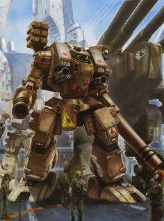 Macross. Destroid Tomahawk, by tenjin hidetaka Robotech