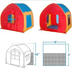 This easy to set up Pop Up play tent will provide hours of fun for the little ones as well as toy storage. Shaped like a house and small enough for most rooms it Hiking Tent, Backpacking Tent, Tent Camping, Buy Halloween Costumes, Funny Costumes, Childrens Play Tents, Pop Up Play, House Tent
