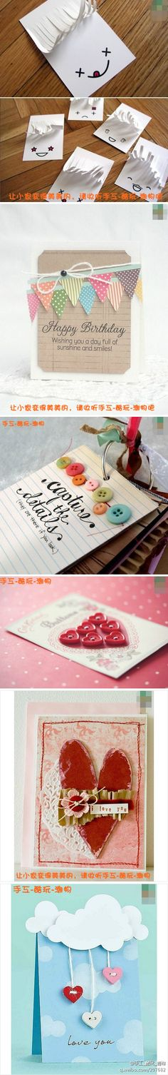 The DIY Birthday cards - very creative