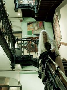 the Hotel Chelsea in Vogue Italias Steven Meisel shot editorial featuring Kristen McMenamy#Repin By:Pinterest++ for iPad#