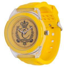 Relógio Estampa Amarelo  Carmim