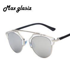 $4.34 (Buy here: https://alitems.com/g/1e8d114494ebda23ff8b16525dc3e8/?i=5&ulp=https%3A%2F%2Fwww.aliexpress.com%2Fitem%2F2014-SO-REAL-new-home-Halley-that-cateye-sunglasses-glass-Shades-unisex-party-outdoors-sun%2F2035007250.html ) Maxglasiz 2016 New Summer Fashion Vintage Metal Female Cateyes Eyewear Gafas Luxury Brand Women Designer Retro Men Sunglasses for just $4.34