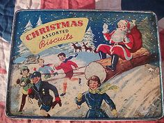 1950s Christmas tin... Christmas Assorted Biscuits