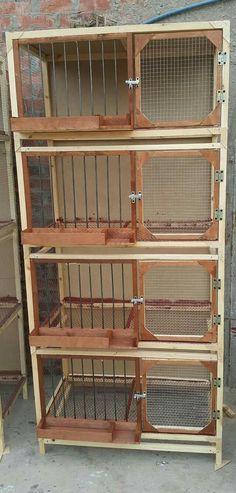 Chicken Barn, Chicken Home, Chicken Cages, Backyard Chicken Coops, Diy Chicken Coop, Chickens Backyard, Big Bird Cage, Bird Cages, Pigeon Loft Design