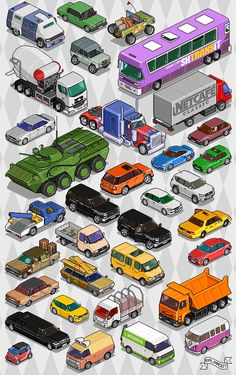 Vehicles, assorted