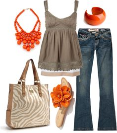 """orange"" by htotheb on Polyvore"