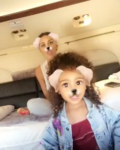 North West Rocks Curly Hair, Goofs Off With Aunt Khloe Kardashian in Vacation Snapchats