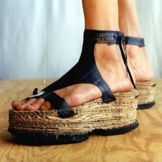 Cardboard sandals (also made with an old bike tube and tyres)