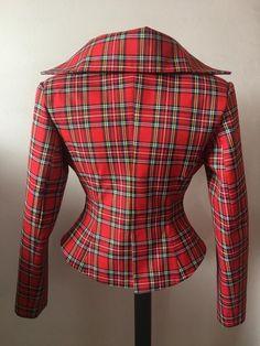Plaid Jacket, Tailored Jacket, Leather Jacket, Vivienne Westwood Suit, Tartan Fashion, Steampunk, Vintage Stil, Blazers For Women, Dame