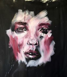 Gestural brushstrokes and powerful imagery in Faces by Michel El hachem #oilpainting #art
