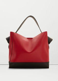 Contrasting hobo bag