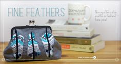 Fine Feathers Metal Frame Purse - Free Tutorial by Emily of Strawberry Patch