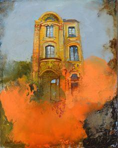 Wiesbaden - Rheinstrasse 25- 40x50 oil on canvas