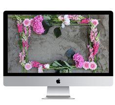 New Desktop Wallpaper | Sand + Flowers | Poppytalk