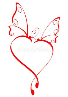 Download Butterfly heart stock vector. Illustration of abstract - 4324004