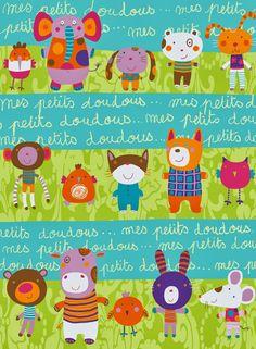 corinne bittler delaunay illustratrice: Imprimés Textile & Papier Cadeaux
