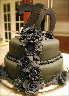: elegant 70th birthday cakes