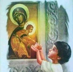 I Love You Mother, Mother Mary, Catherine Of Alexandria, Byzantine Icons, Holy Mary, Orthodox Christianity, Art Thou, Orthodox Icons, Halloween Art
