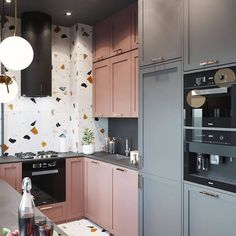 buzzworthyinteriors: Its been a while since I showed terrazzo… – Dekorationsideen Kitchen Room Design, Kitchen Dinning, Modern Kitchen Design, Home Decor Kitchen, Interior Design Living Room, Home Kitchens, Kitchen Time, Kitchen Office, Küchen Design