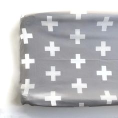 Changing Pad Cover Grey Plus Sign- Grey Changing Pad- Cross Changing Pad- Changing Pad Cover- Minky Changing Pad- Organic Changing Pad by ModFox on Etsy https://www.etsy.com/listing/164484755/changing-pad-cover-grey-plus-sign-grey