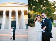 Elegant Sunrise Engagement Session at National Gallery of Art