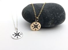 Compass Necklace in Gold or Silver Enjoy the by KallenDesign