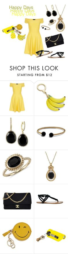 """""""Happy Days"""" by taradactyl22 on Polyvore featuring New Look, Kate Spade, Effy Jewelry, David Yurman, Blue Nile, Lord & Taylor, Chanel, Sole Society, Anya Hindmarch and 5.11 Tactical"""