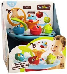 Bath Toy   Musical Duck Race With Auto Fountain, Water Pump, And 4 Racing
