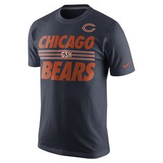 b210bff4b4 Show your football-loving stripes in this Nike Nfl Team Stripe t-shirt.  This classic tee is stylized with bold stripes and Chicago Bears graphics  at the ...