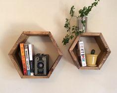 trio de tablettes/cube rectangulaire et ensemble correspondant de tablettes hexagone