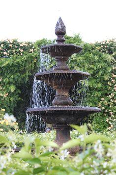 Fountain in the Alowyn Gardens Yarra Valley Vic