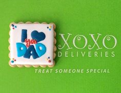 Celebrate life's moments. Personalize our artisan decorate cookies for every occasion. XOXO Deliveries Father's Day Cookie Collection  See our website to order these beautiful cookies. XOXO Deliveries features artisan decorated cookies for of life's special moments.