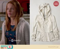 Daphne's blue fox print top and grey lace hoodie on Switched at Birth Lounge Outfit, Lounge Clothes, Katie Leclerc, Switched At Birth, Fox Print, Lace Peplum, Other Outfits, College Outfits, Passion For Fashion