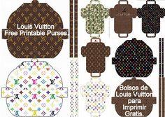 Louis Vuitton: Bolsos para Imprimir Gratis. - Ideas y material gratis para…