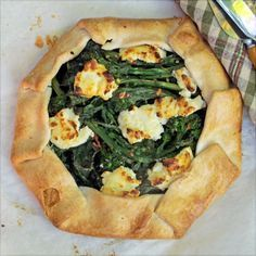Savory Pies- Rapini Galette with Goat Cheese & Red Pepper - SippitySup