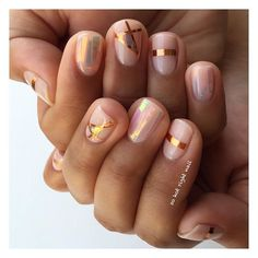 Pin for Later: Rose-Gold Nail Art Is the Prettiest, Girliest Manicure You Can Wear