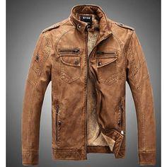 520ee30ba85 Men s Daily   Weekend Punk   Gothic Fall   Winter Regular Jacket