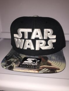 e754442e Starter black label Star Wars Luke and Yoda on dagoba on brim snapback