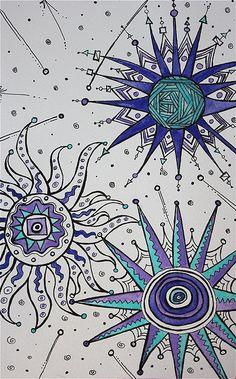 Celestial Watercolor doodle