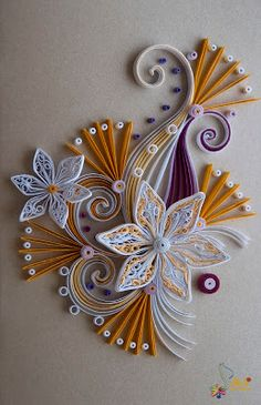 Neli Quilling Art: Quilling card - flower