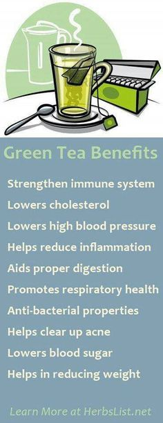 Green tea benefits...I've been drinking it for 4 days so far and I'm loving what it does for me :)