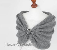 Gray Wedding Wrap Bridal Shawl Bridal Cover Up Wedding Bolero Grey Shrug Knit Shawl Gray Knitted Capelet Bridal Cape Bridesmaid Shawl Bridal Shawl, Bridal Cape, Wedding Bolero, Knitted Capelet, Crochet Shawl, Wedding Hair Clips, Wedding Wraps, Grey Shrug, Bridesmaid Shawl