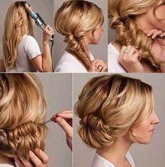 Technique de coiffure, comment se faire couronne cheveux longs, mi longs, facile à faire soi même, apprendre à le faire, c'est rapide et simple.